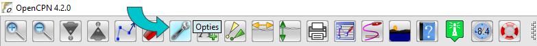 OpenCPN - knop opties